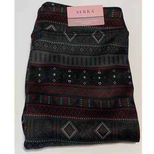 NEW Serra Ladies Fleece Lined Geometric Leggings